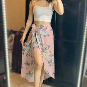 Band Of Gypsies Long Floral Skirt